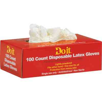 Do it 1 Size Fits All 1-Use Latex Disposable Glove (100-Pack)