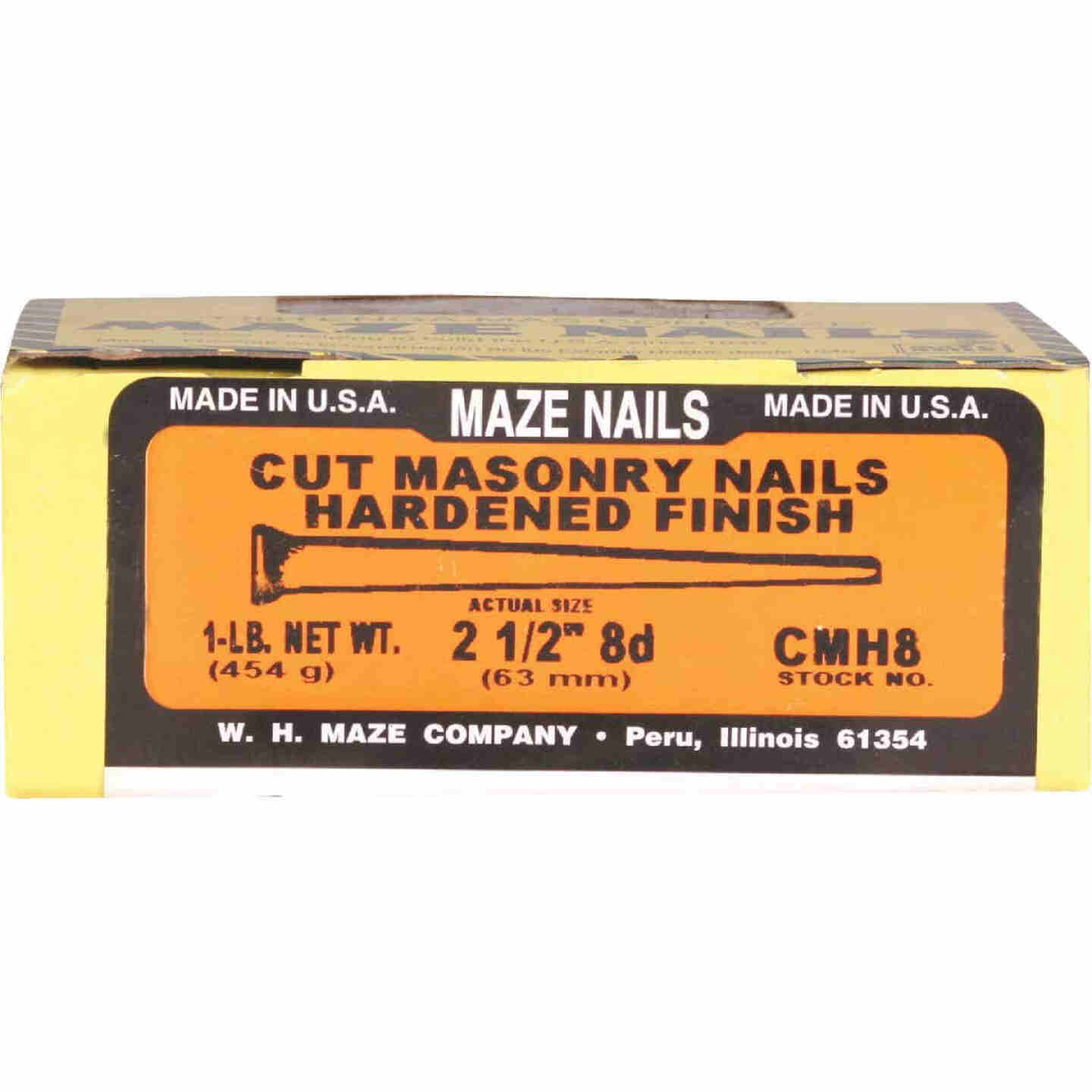 Maze 8d x 2-1/2 In. Hardened Steel Tapered Masonry Nails (64 Ct., 1 Lb.)  Image 2