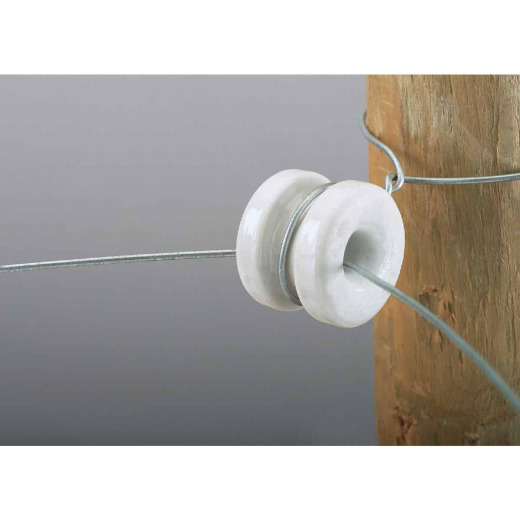 Dare Donut White Porcelain Electric Fence Insulator (10-Pack)