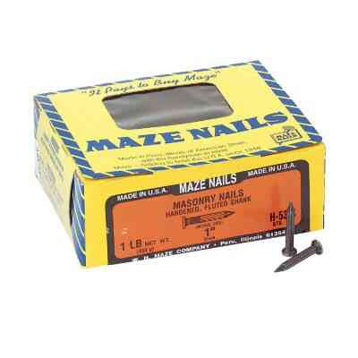 Maze 2d x 1 In. 9 ga Hardened Steel Fluted Masonry Nails (176 Ct., 1 Lb.)