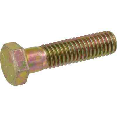 Hillman 1/4 In. x 2 In. Grade 8 Yellow Dichromate Hex Head Cap Screw (100 Ct.)