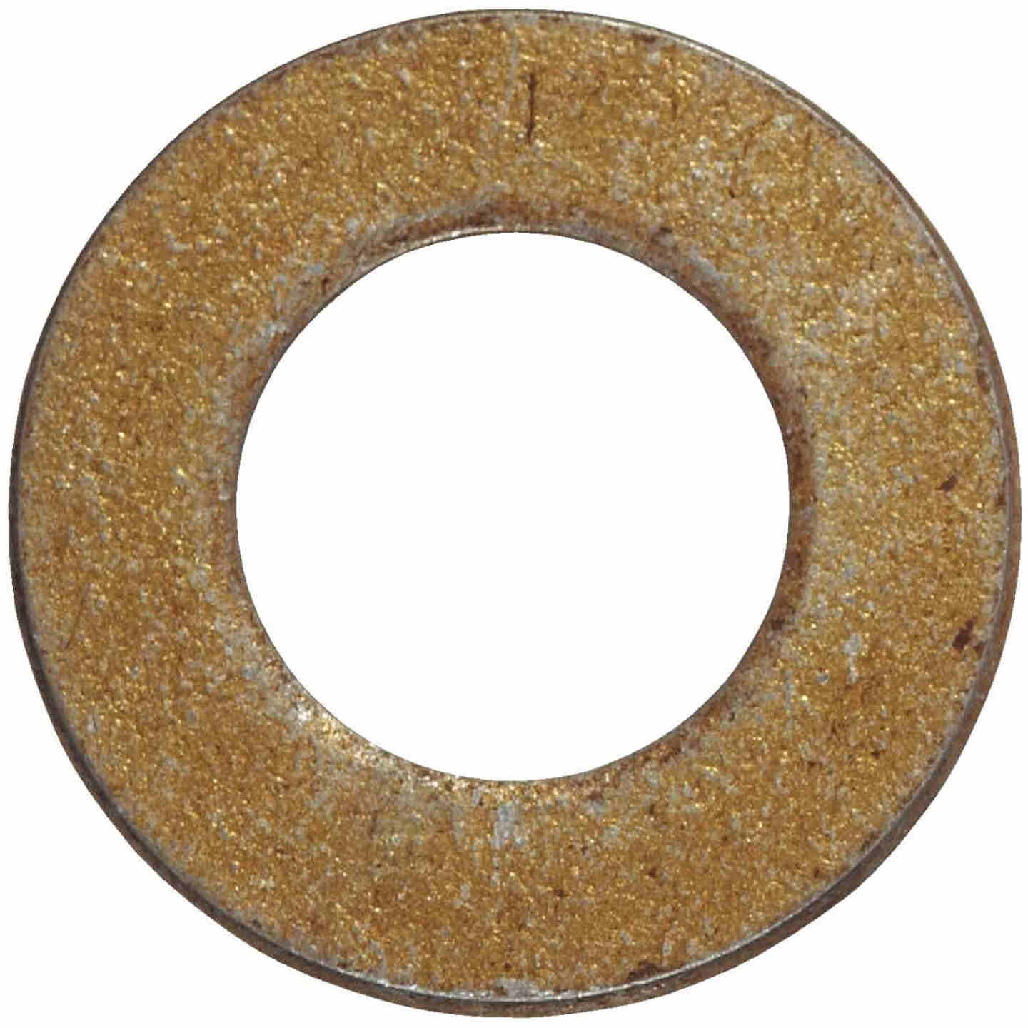 Hillman 7/16 In. SAE Hardened Steel Yellow Dichromate Flat Washer (50 Ct.) Image 1