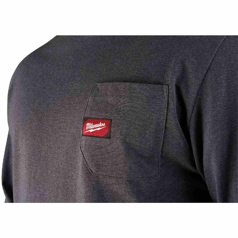 Milwaukee 2X Gray Long Sleeve Men's Heavy-Duty Pocket Shirt Image 4