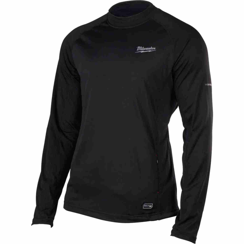 Milwaukee Workskin XL Black Heated Midweight Base Layer Shirt Image 6