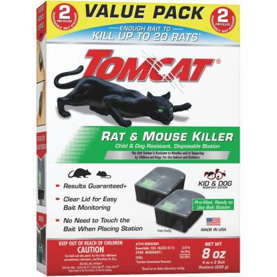 Tomcat Disposable Rat & Mouse Bait Station (2-Pack)