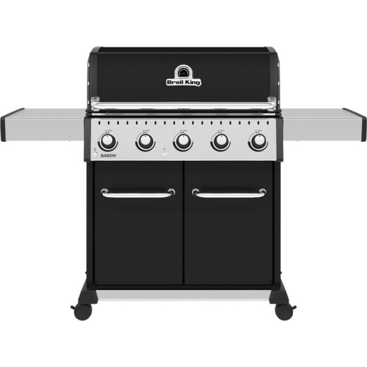 Broil King Baron 520 Pro 5-Burner Black 45,000 BTU LP Gas Grill