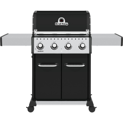 Broil King Baron 420 Pro 4-Burner Black 40,000 BTU LP Gas Grill